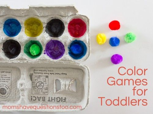 color games for toddlers pompom matching