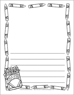 Freebie! 9 different pages of writing paper with borders and lines!