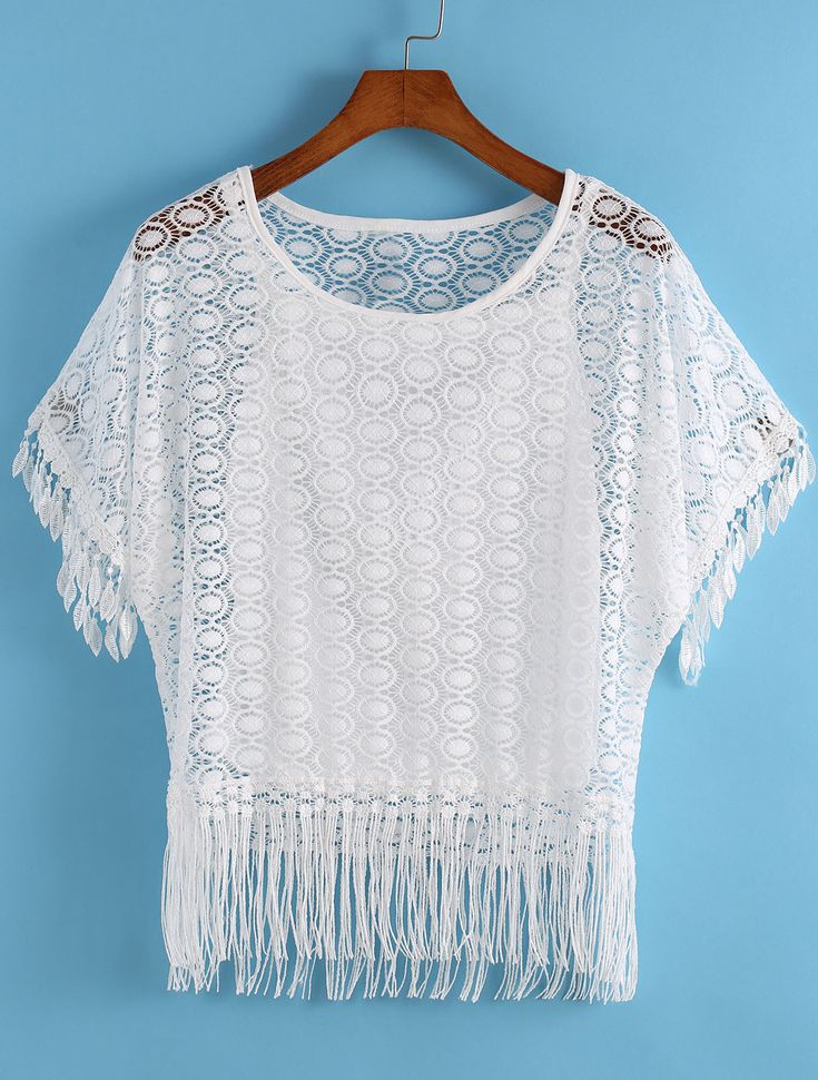 With Tassel Lace Loose Top 10.17
