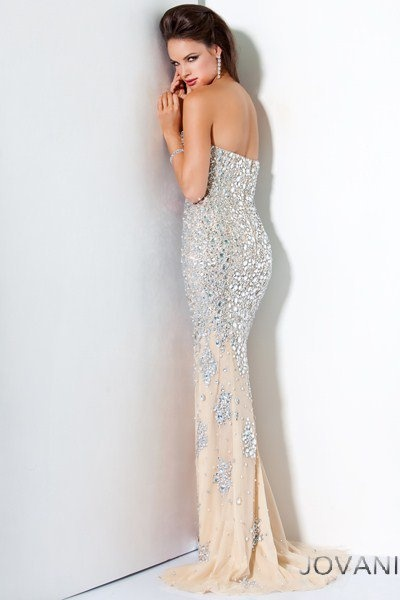 Crystal Encrusted Evening Gown 4247 by jovani