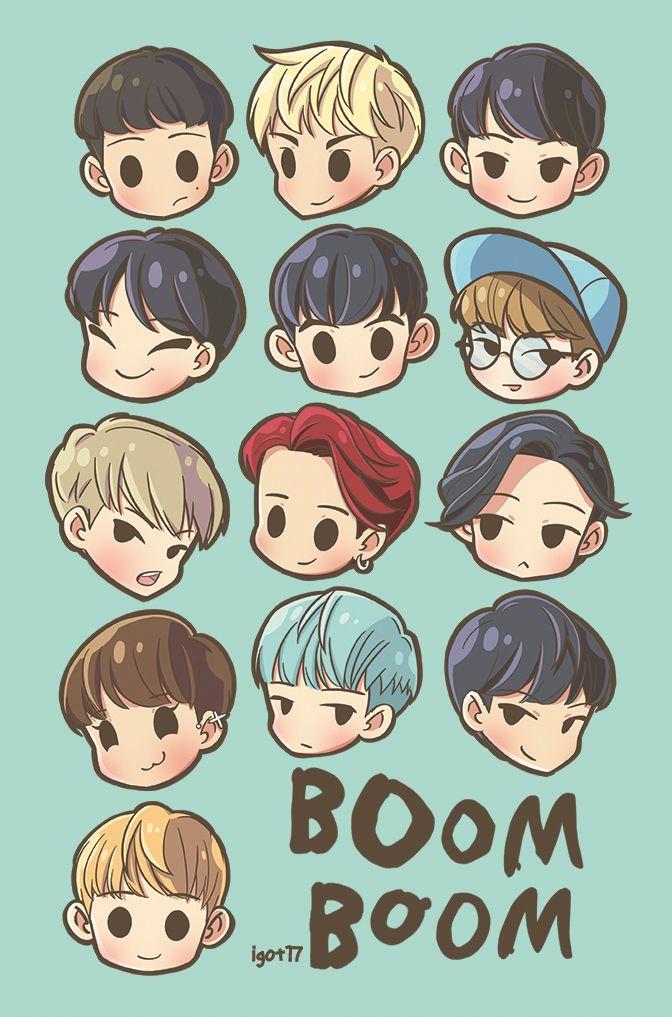 Seventeen Boom Boom Fanart