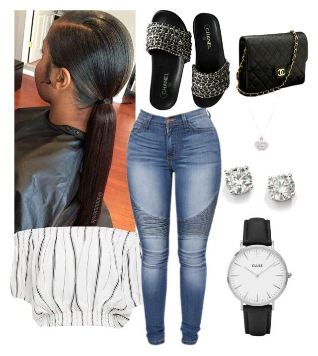 """""""7/11/17"""" by loveaaliyahh ❤ liked on Polyvore featuring Faithfull, Chanel, CLUSE, Saks Fifth Avenue and Tiffany & Co."""