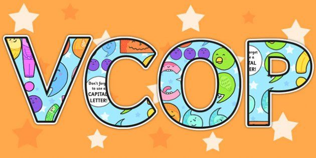 Classroom Banner Ideas ~ Vcop display lettering grammar