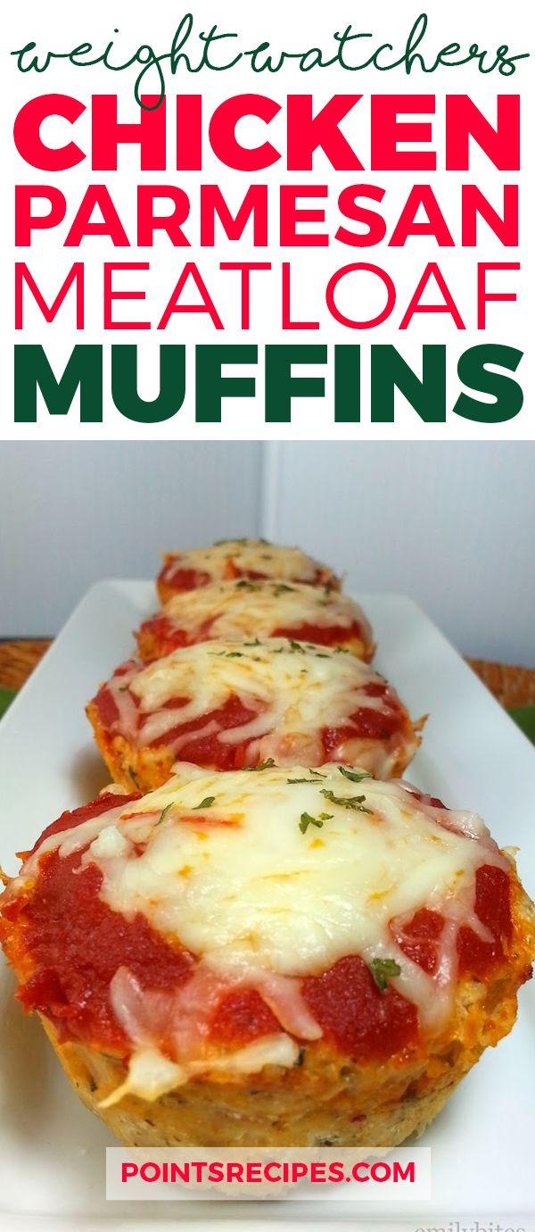 """Chicken Parmesan Meatloaf """"Muffins"""" (Weight Watchers SmartPoints)"""