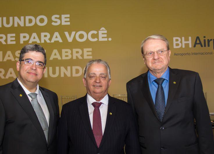 Marco Antônio Castello Branco, Olavo Machado Jr e Márcio Lacerda