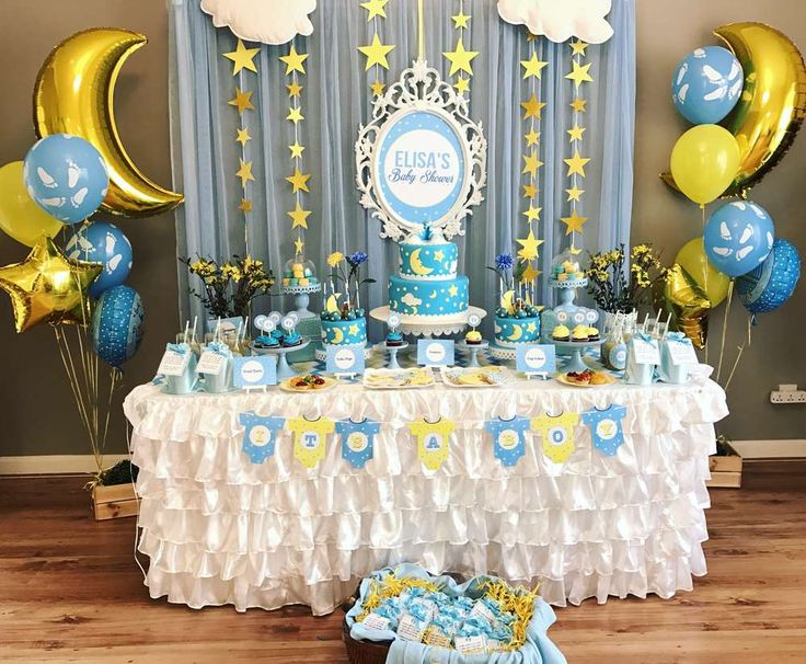 85 best baby shower decoraci n decoration images on for Baby shower party hall decoration ideas