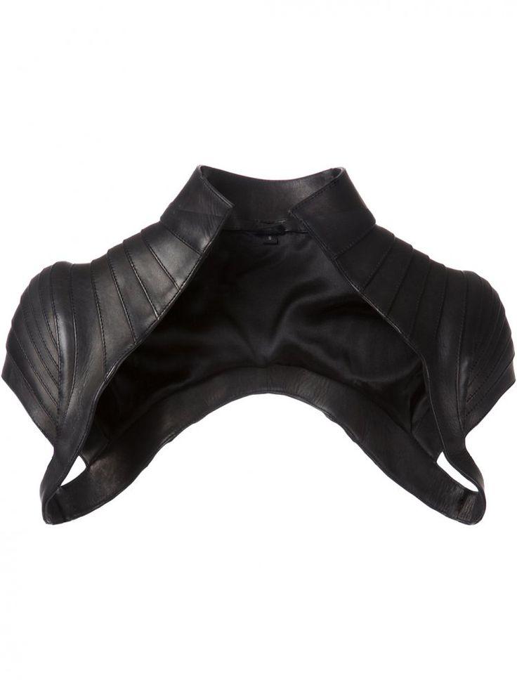 MAJESTY BLACK - Structured Leather Belero Vest - BALERO VEST BLACK - H. Lorenzo