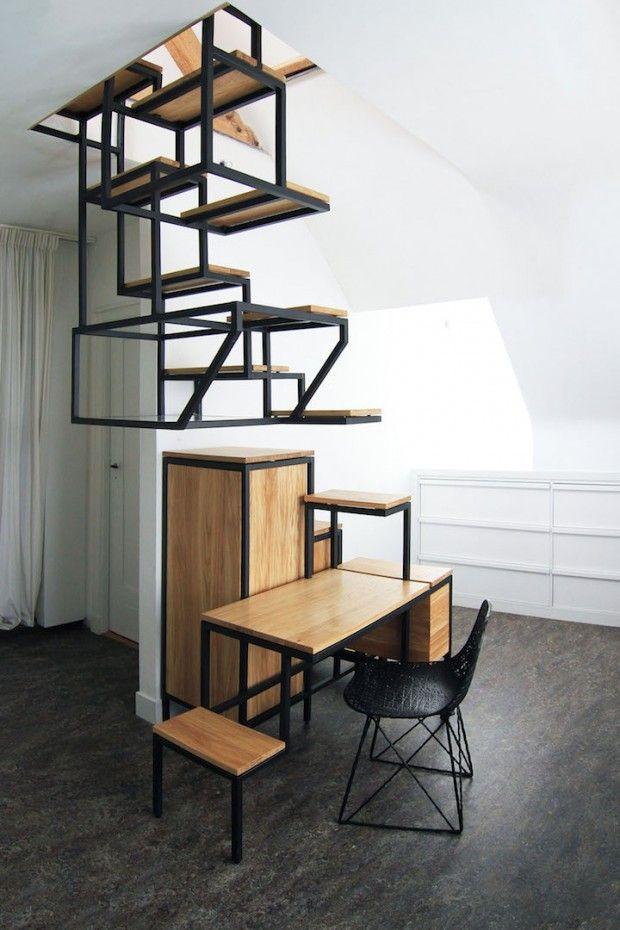 Object élevé par Studio Mieke Meijer un escalier l'air de rien