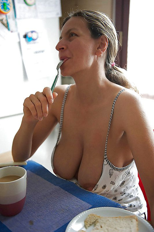Mature granny coffee morning