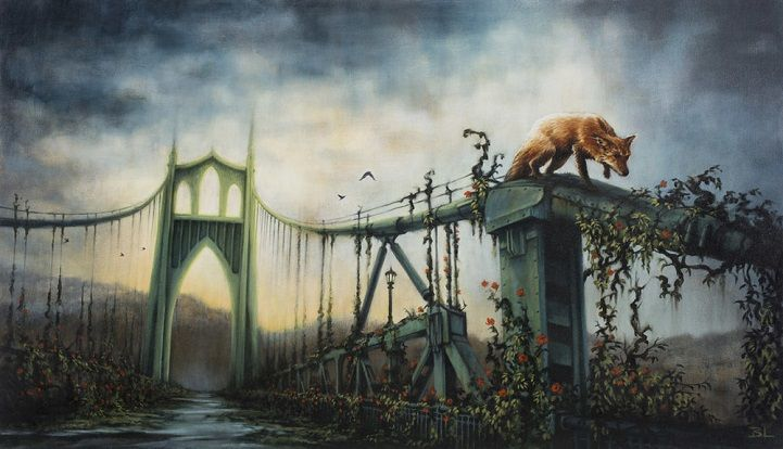 Post-Apocalyptic Paintings Show Nature Reclaiming Abandoned Cityscapes - My Modern Met