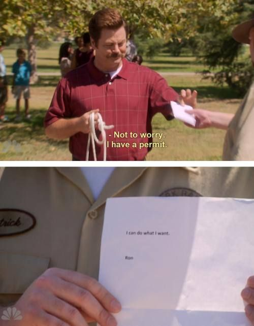 Ron Swanson is easily my favorite character of all time, ever.