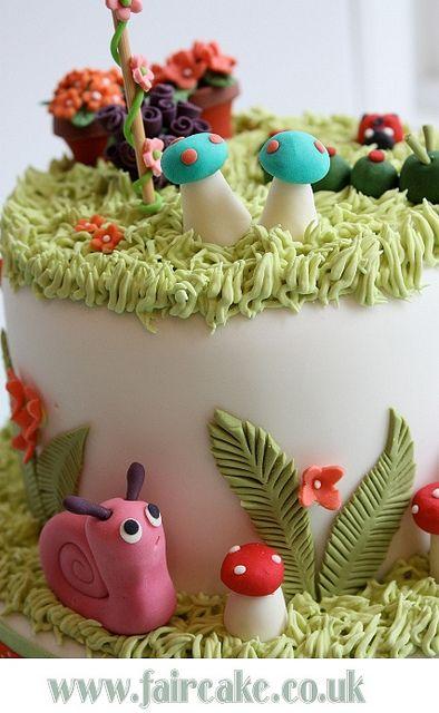 Secret garden cake - OOO CUTE <3