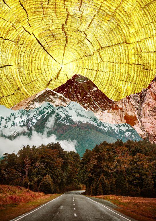 "Saatchi Online Artist: Alexandra Gallagher; Digital, 2013, Assemblage / Collage ""Signed Giclée Print 'My Sunshine' Limited Edition (1/10)"""
