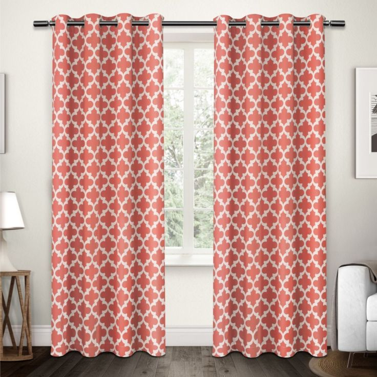 "Amazon.com: Amalgamated Textiles Neptune Curtain Pair, 54"" x 84"", Mecca Orange: Kitchen & Dining"