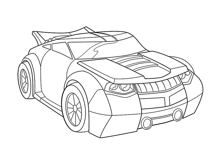 Bumblebee car coloring pages for kids, printable free