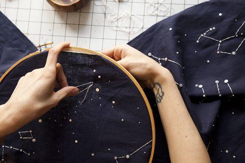 Embroidery 101: French Dot Constellation Runner | Design*Sponge