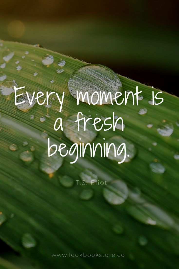 """Inspirational Quotes // """"Every moment is a fresh beginning."""" - T.S. Eliot"""