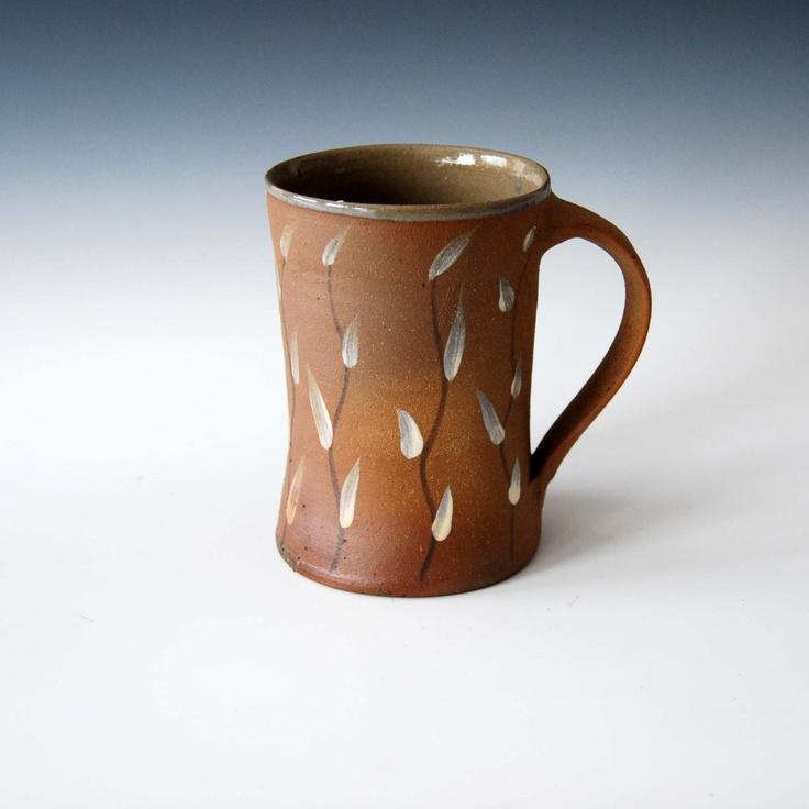 Wood Fired Handmade Pottery Mug.