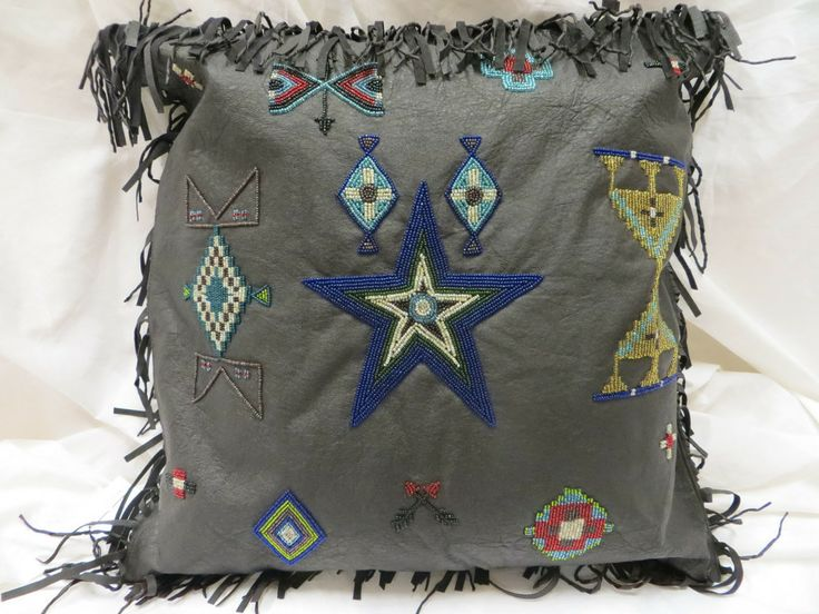 Double D Ranch Cayuse Beaded Pillow   Jenny Longhorn