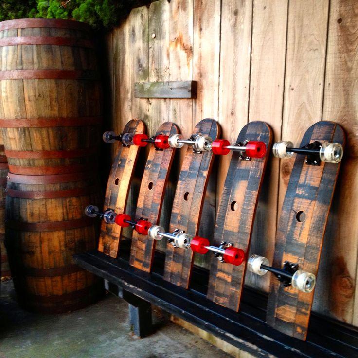 More Whiskey Barrel  Skateboards!