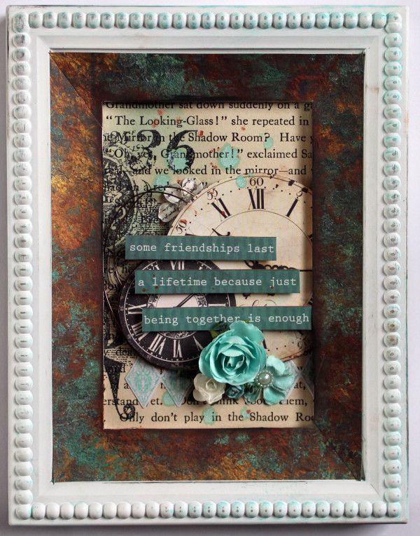 "Kaisercraft "" Antique Bazaar"" Frame by Kylie Cornish"