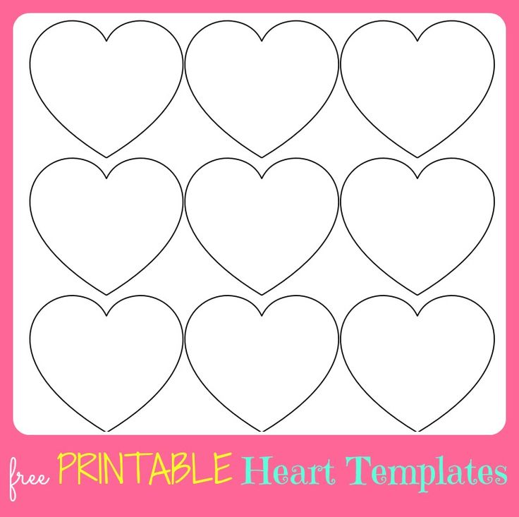 Free printable heart templates large medium small stencils to cut out crafts template for Haircut templates