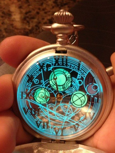 Glowing Time Lord watch.