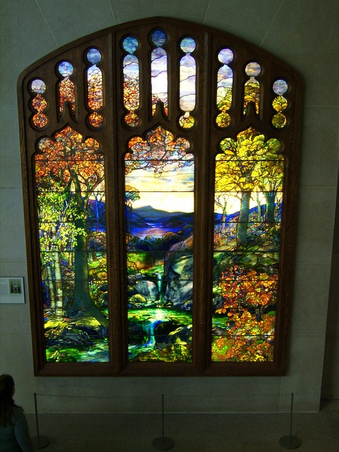 Autumn Landscape, Stained Glass Window