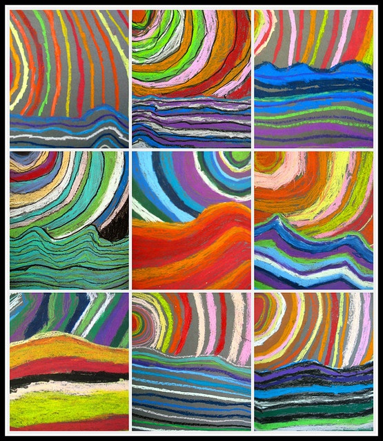 Art lesson!!! - Primary colours, complementary colours, cool/warm ... oooh the possibilities!!