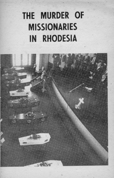 The earliest permanent white residents of Rhodesia were missionaries, and it is significant that their lives were respected by the most warlike of the country's tribes. In an era of generally unbridled savagery, the innate chivalry of primitive warriors and the strict discipline imposed by their leaders seem to have been all that ensured the survival of the devoted little bands of men and women.. In the mid-l 970s intensification of the terrorist war in Rhodesia changed all that..MI 1978
