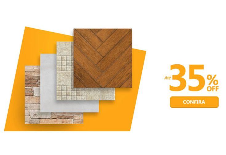 Pisos, azulejos e porcelanato c/até 35% de desconto na C&C