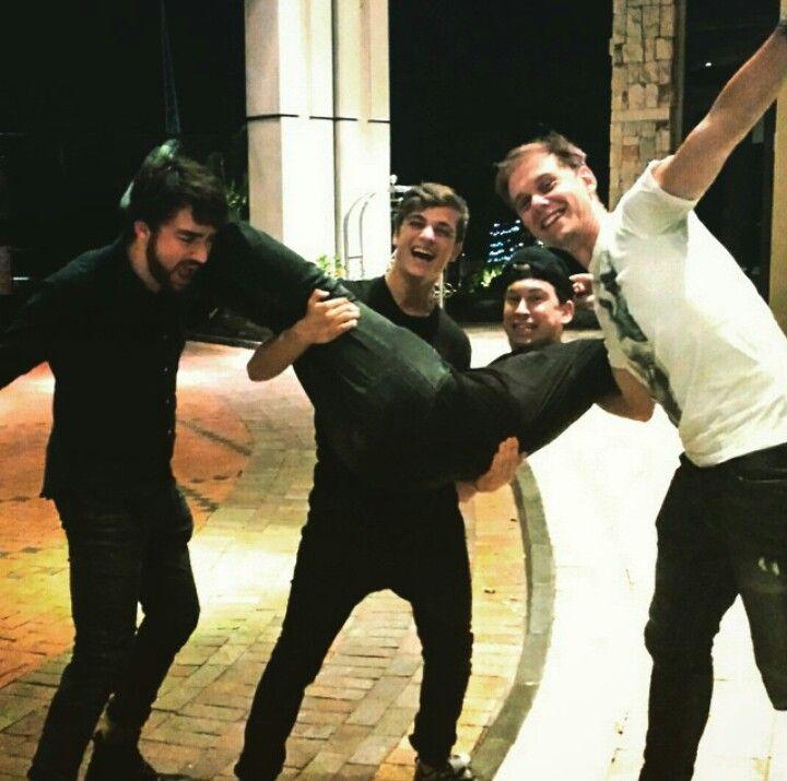 Oliver Heldens, Martin Garrix, Hardwell and Armin van Buuren. A picture of greatness