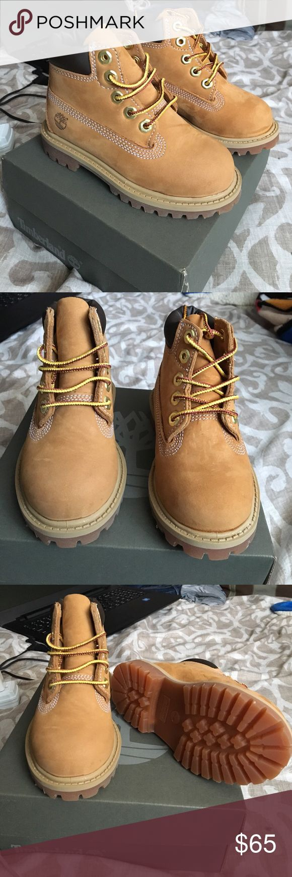 Brand New Timberlands for toddler Brand new with box Timberlands for toddler. Wonderful addition to any little boys collection. Never worn. Excellent condition. Feel free to message me with any questions. Timberland Shoes Boots
