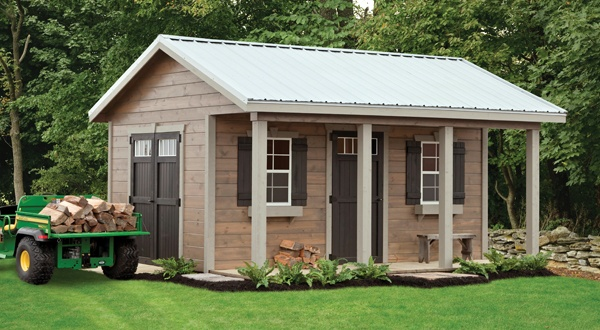 12x16 barn shed with porch plans for Barn house plans with porches