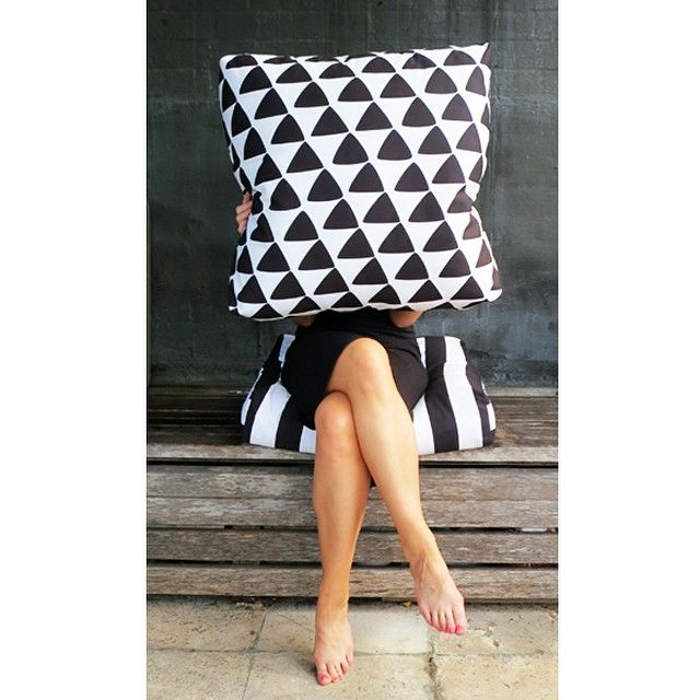Jennifer + Smith | Triangle Box Outdoor Cushion | www.jenniferandsmith.com