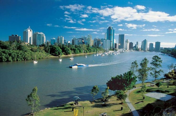 Brisbane river and the city cat :)