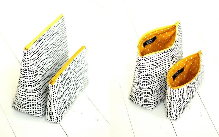 Handmade Vibeke: sort, hvitt og gult