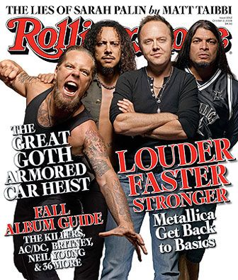 MetallicaCovers Magazines, Rolls Stones Covers, Back To Basic, Rolling Stones, Mighty Metallica, Rollingstones Magazines, October 2008, Photographers Prints, 2008 Photographers