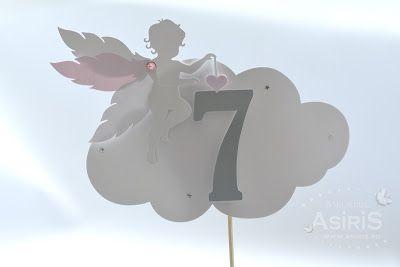 Numere de masa Botez cu Ingerasi roz