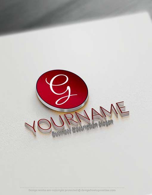 Free logo maker simple round logo round logo free for Draw logo online