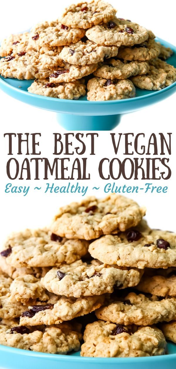 Vegan Oatmeal Cookies In 2020 Vegan Oatmeal Cookies Vegan Cookies Recipes Vegan Gluten Free Cookies