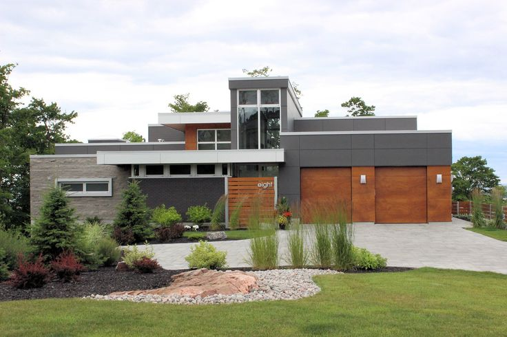This residence in Northern Ontario features EQUITONE Fibre Cement and Parklex Natural Wood Veneer Facade. #brilliantbuildings #architecture