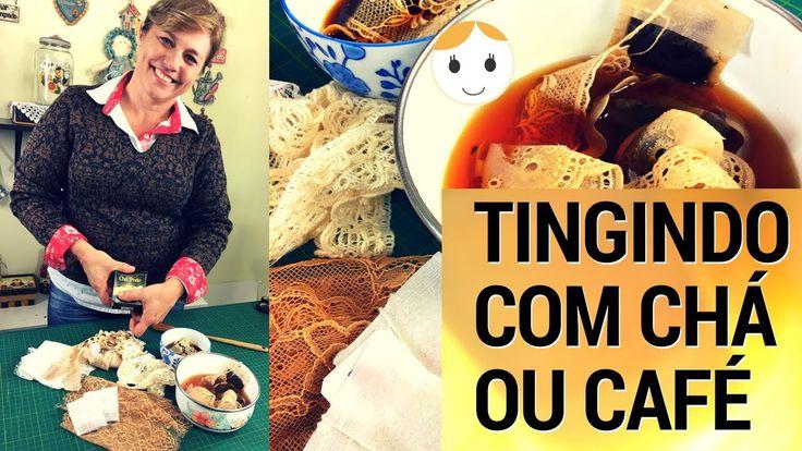 COMO TINGIR RENDA OU TECIDO COM CHÁ OU CAFÉ | DRICA TV | SEGUNDAS E QUINTAS