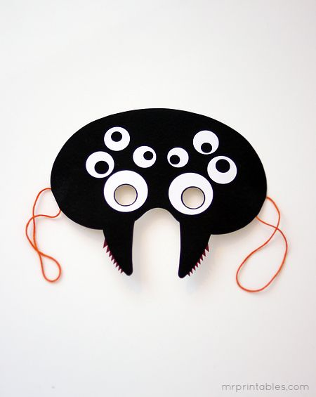 Masker / Mask: spin / spider :-)    printable halloween mask