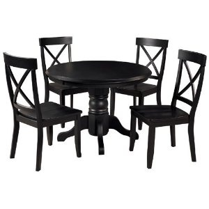 What the kitchen pedestal table might look like, repainted