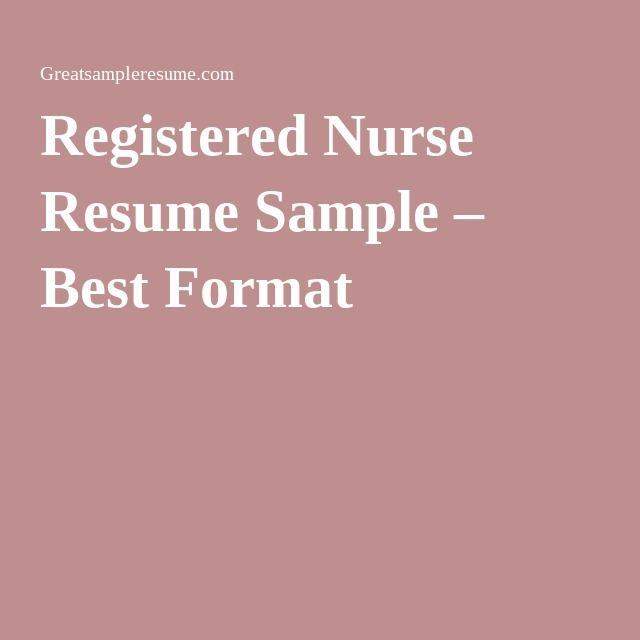 25  best ideas about registered nurse resume on pinterest