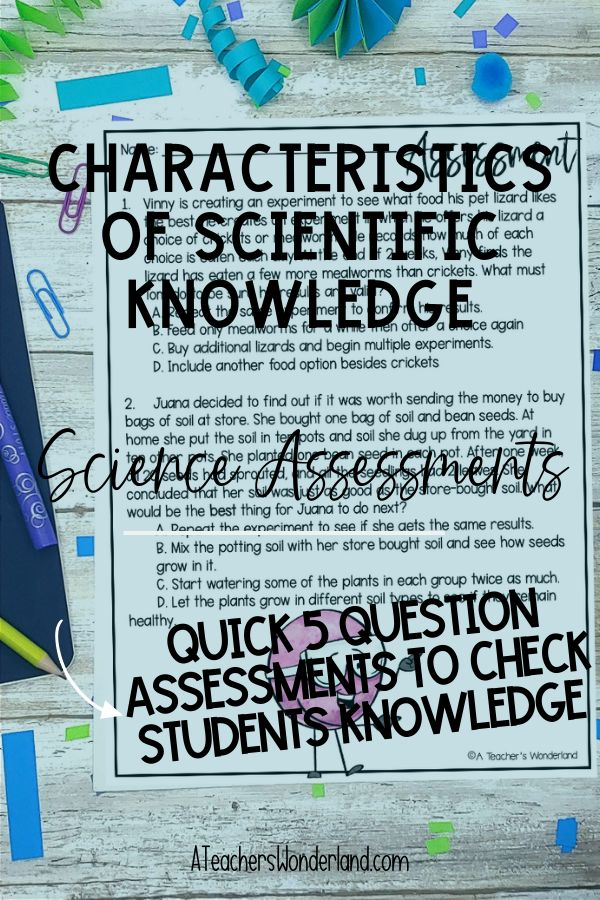 Characteristics of Scientific Knowledge - SC.5.N.2.2 ...
