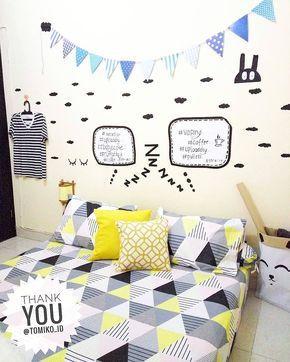 dekorasi dinding kamar tidur terbaru lagi ngetren | ide