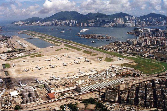 Kai Tek International Hong Kong Closed in 1998 and replaced by the new Hong Kong International Airport.