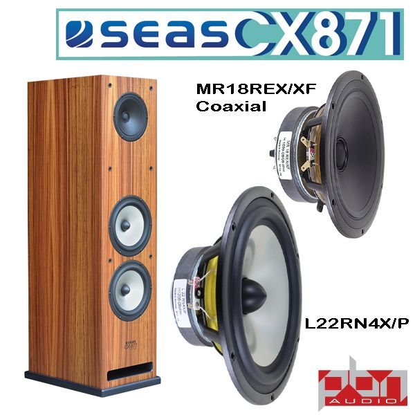 Seas CX871 Coaxial 3-Way Speaker Kit by Peter Noerbaek